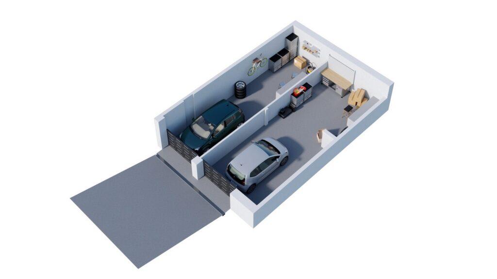 Rzut 3D garażu