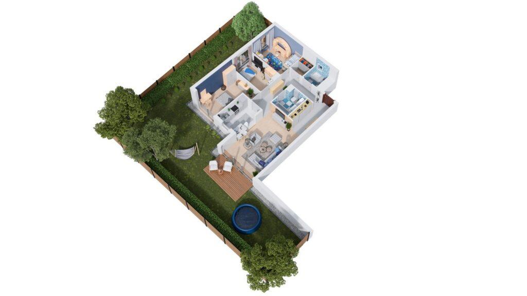 Rzut 3D apartamentu