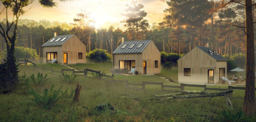 wizualizacja domu 35 m2 bez pozwolenia na budowę
