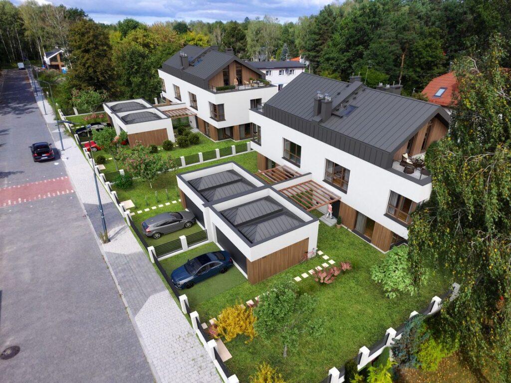 Wizualizacja architektoniczna domów blizniaków