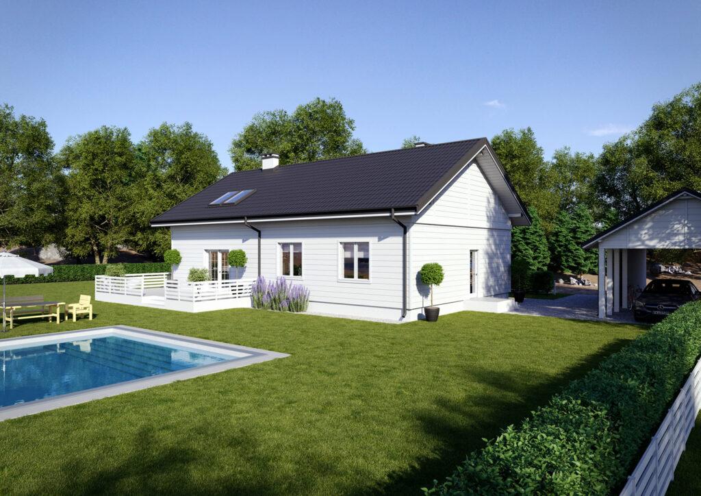 Wizualizacja architektoniczna domu w stylu skandynawskim