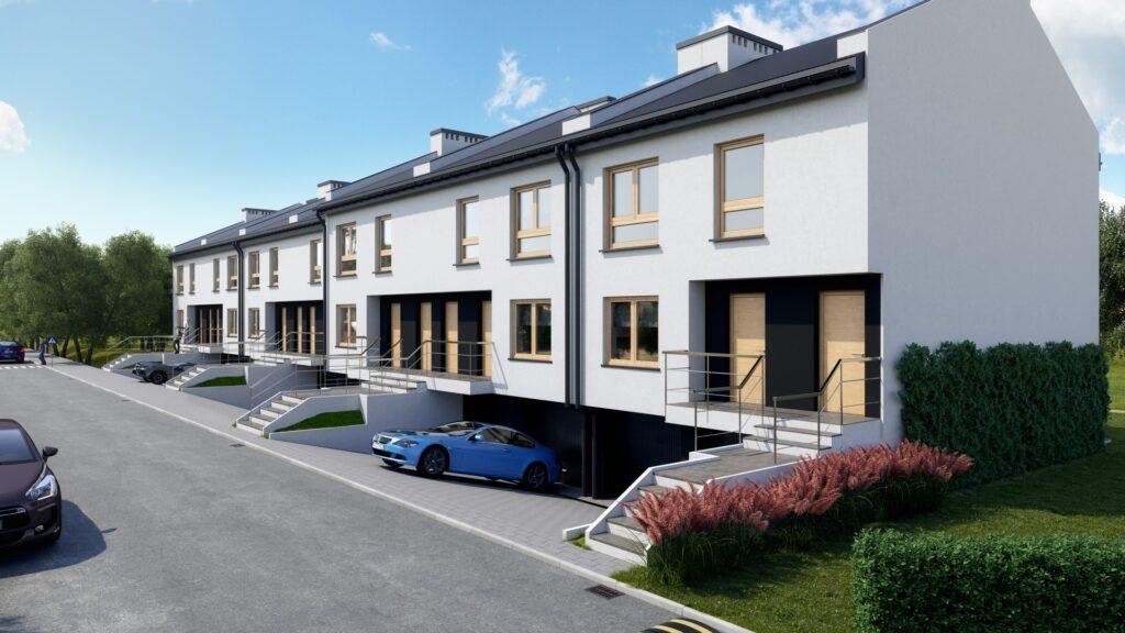 Wizualizacja architektoniczna domów szeregowych