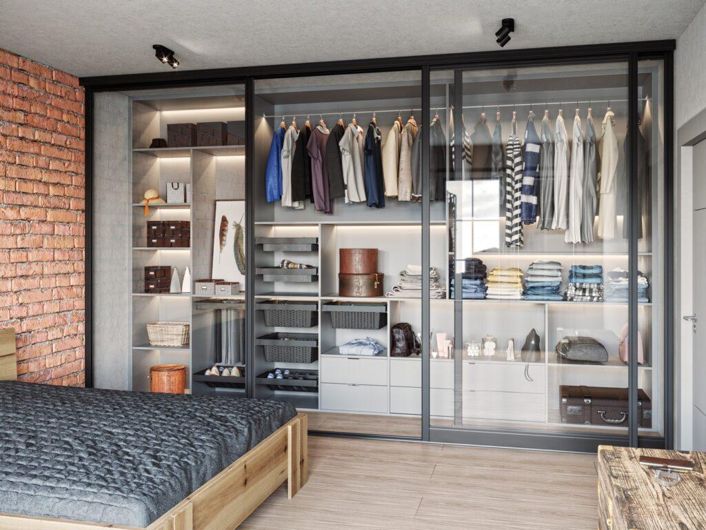 Wizualizacja produktu system zabudowy garderoby