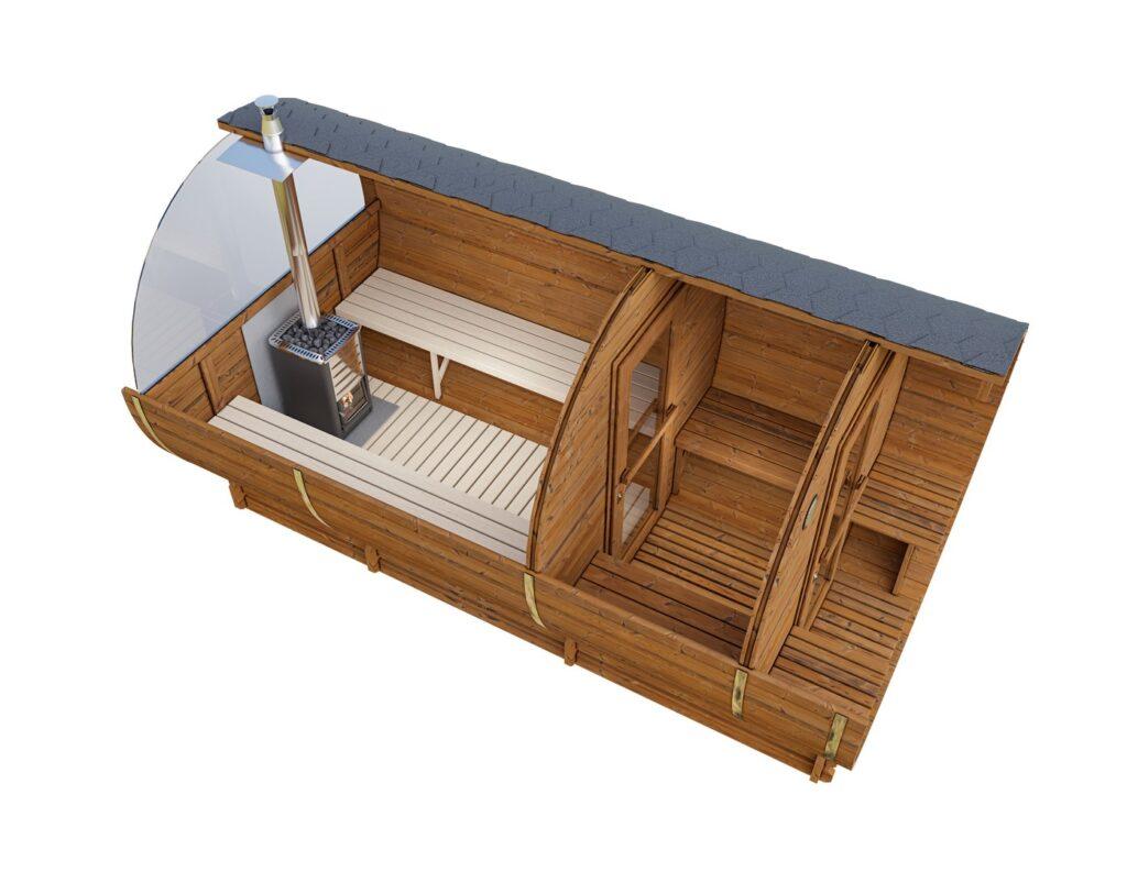 Wizualizacja produktu sauna