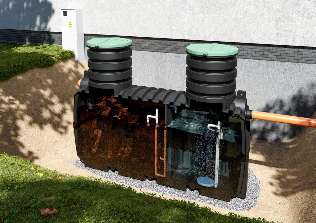 wizualizacja produktu zbiornika szambo bearstudio
